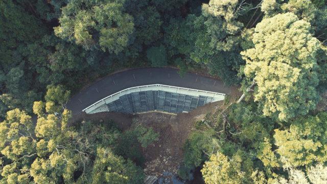 内海林道災害復旧工事及び改良工事